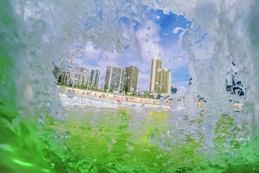 Surfers Peephole Photograph