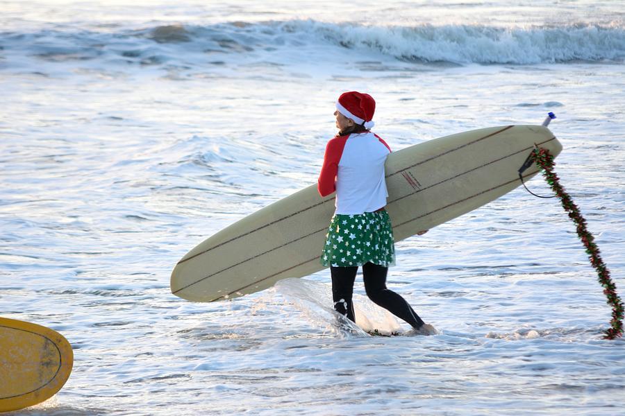 Surfing Santas 1 by Bradford Martin