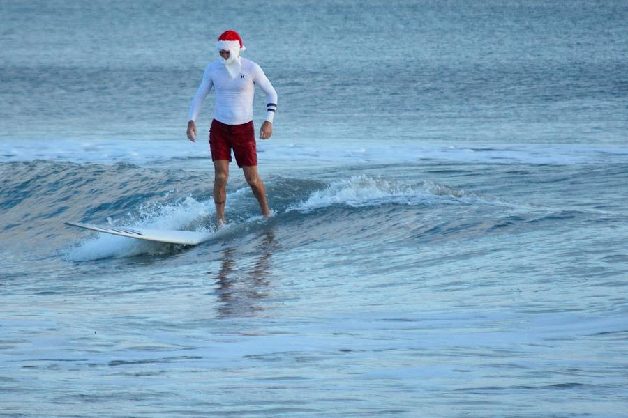 Surfing Santas 2 by Bradford Martin