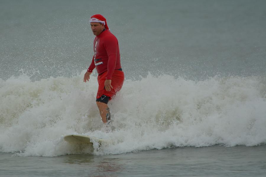 Surfing Santas 6 by Bradford Martin