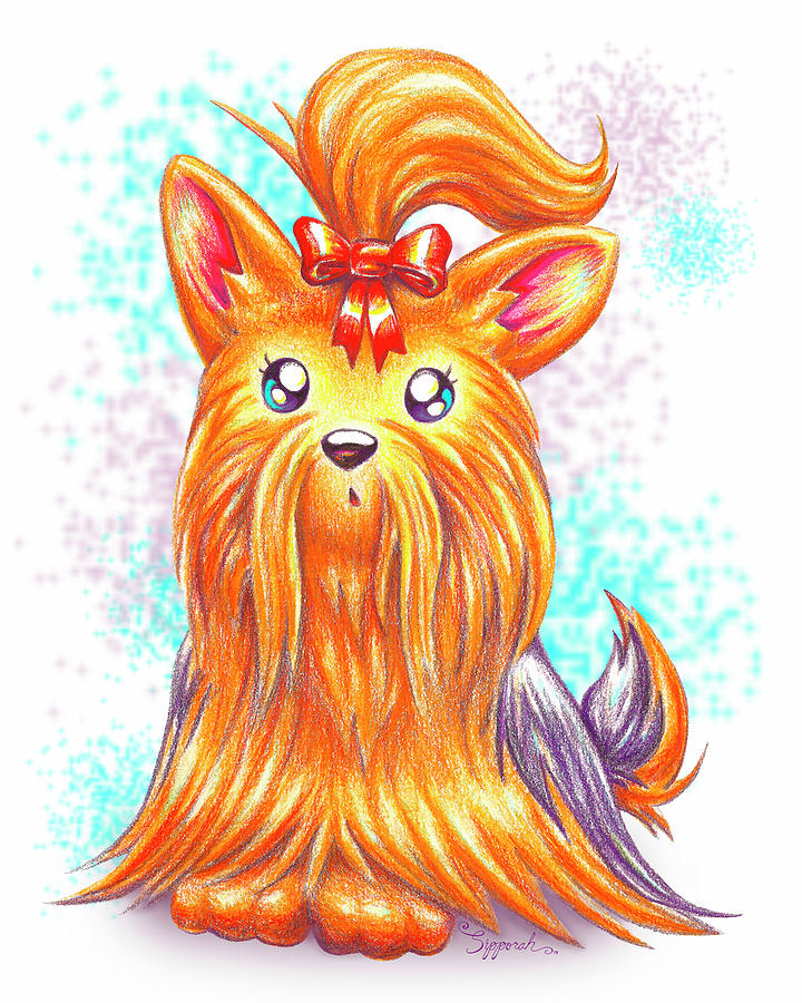 Surprised Yorkie by Sipporah Art and Illustration