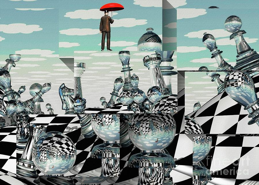 Surreal Chess Landscape Digital Art