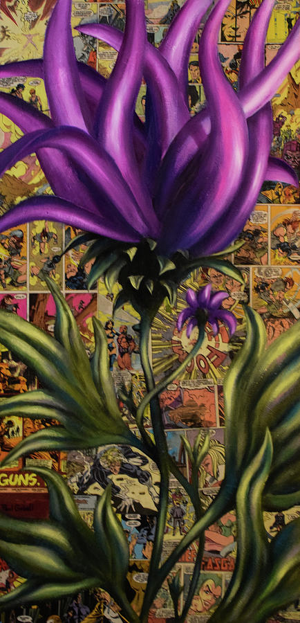 Surreal Comic Floral Painting