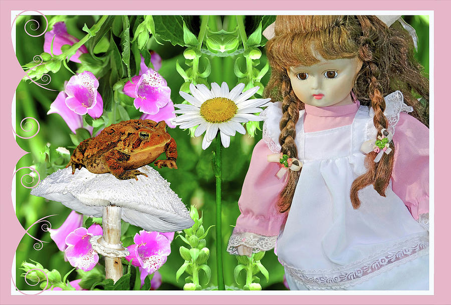 Surreal Doll And Frog Photography Digital Art