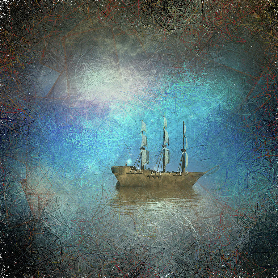 Surreal Sailboat Digital Art