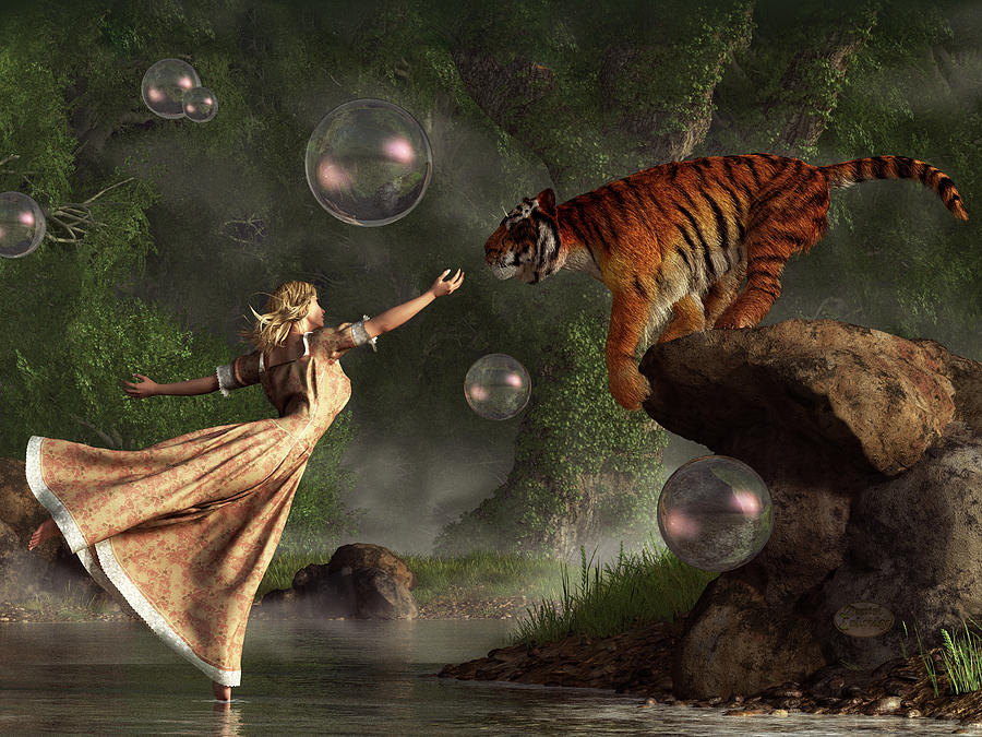 Surreal Tigr Bubble Waterdancer Dream 4to3 ratio by Daniel Eskridge