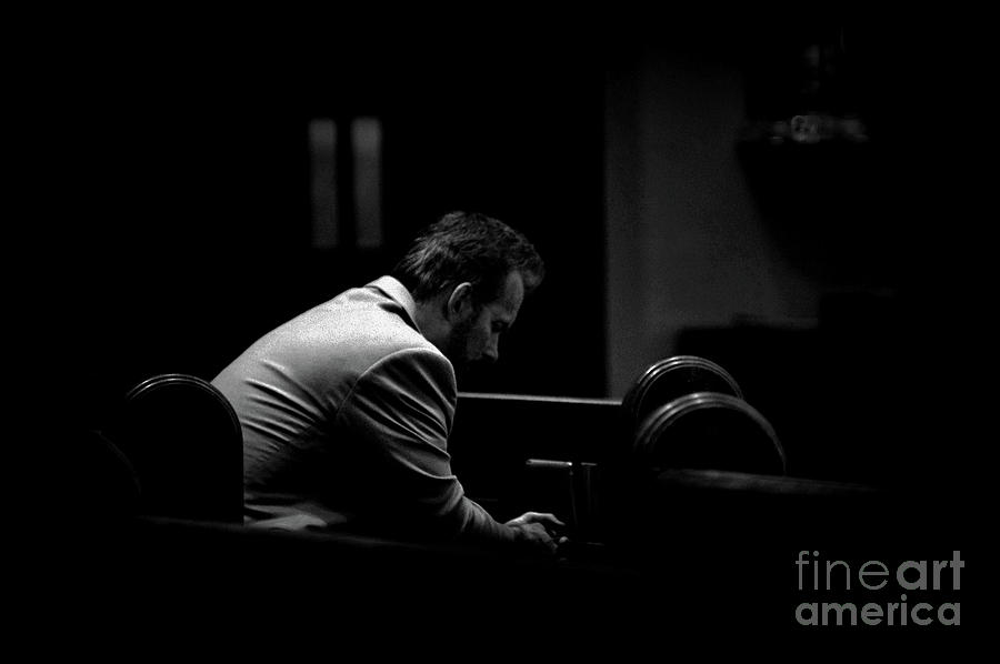 Spiritual Photograph - Surrender - Black and White High Contrast by Frank J Casella