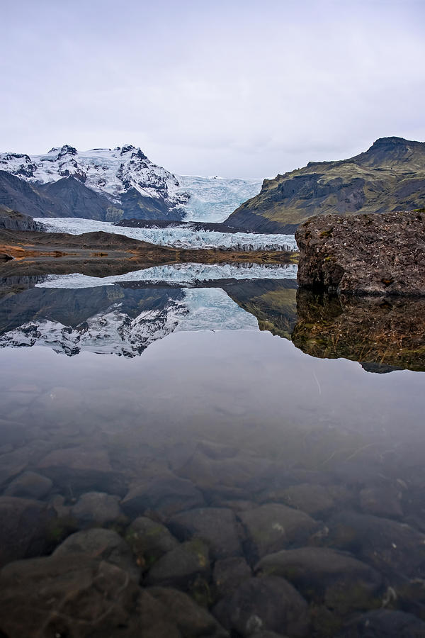 Svinafellsjokull Glacier Iceland by Catherine Reading