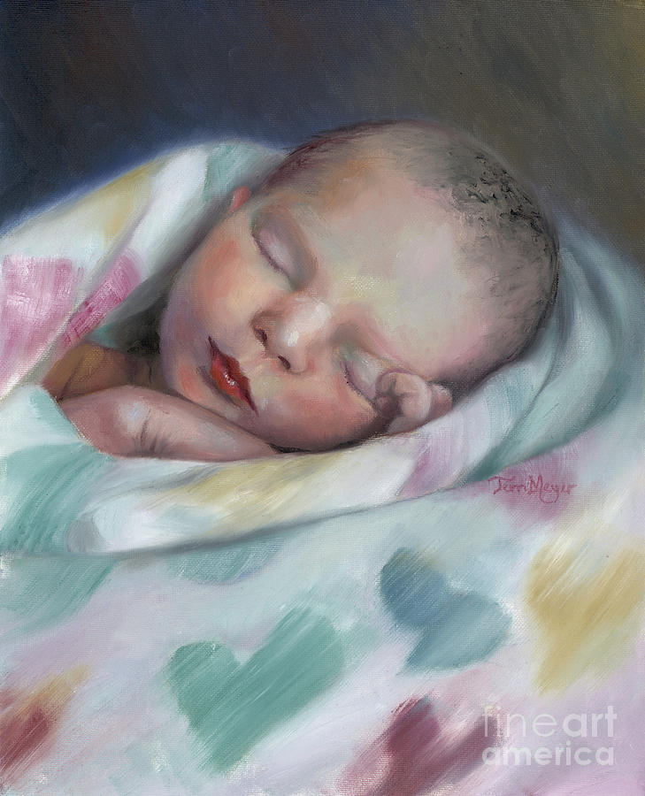 Swaddled in Love Painting by Terri  Meyer