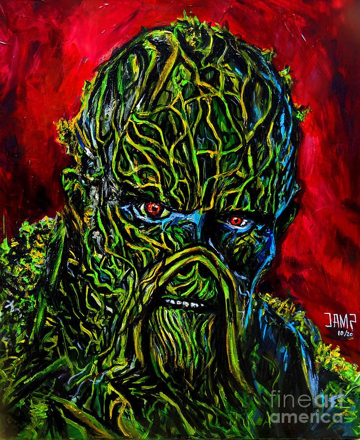Swamp Thing Painting - Swamp Thing by Jose Mendez