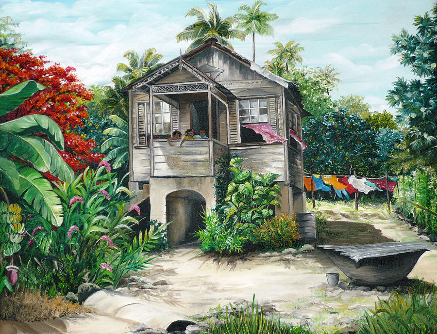 Sweet Island Life  Painting by Karin  Dawn Kelshall- Best