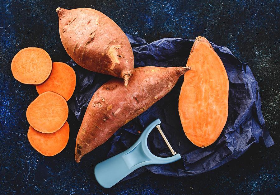 Sweet potatoes Photograph by Aniko Hobel