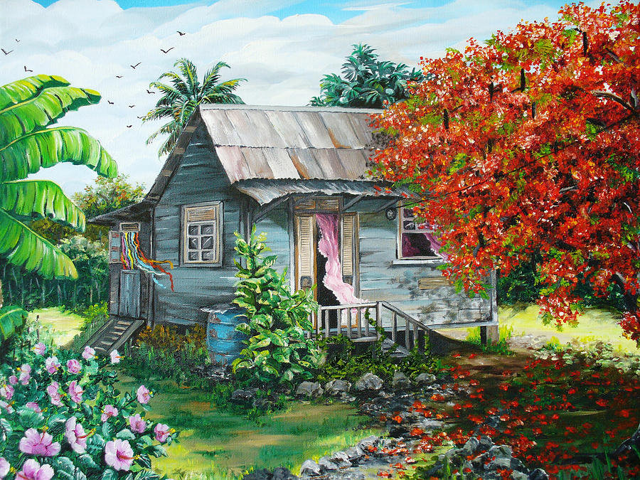 Sweet Tobago Life.  2 Painting by Karin  Dawn Kelshall- Best