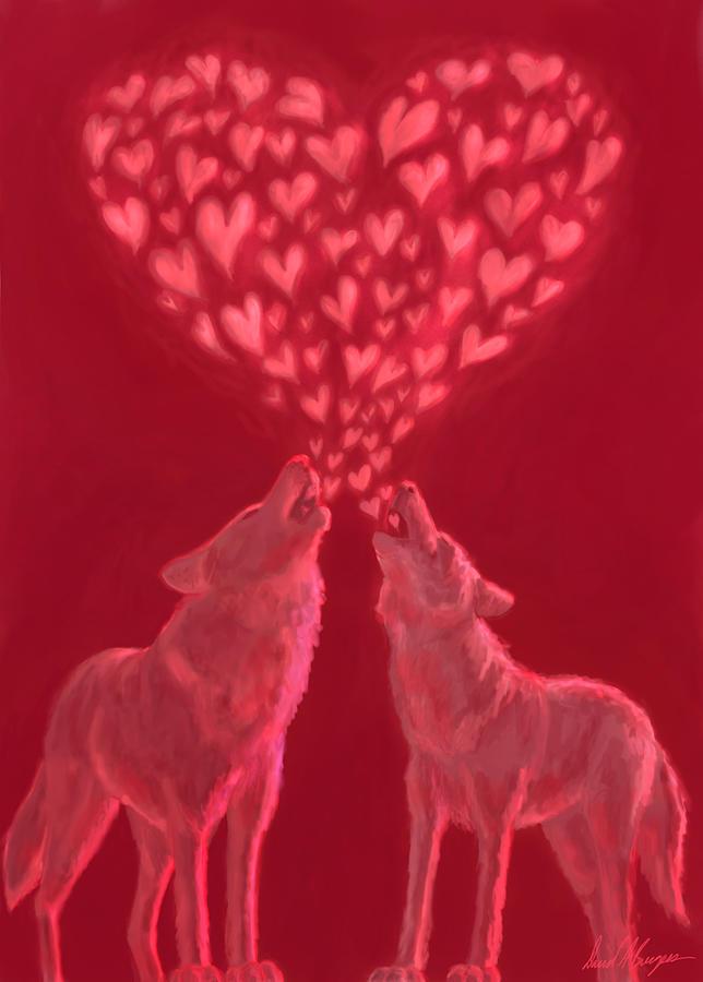 Wolves Digital Art - Sweetheart Sing-along by David Burgess