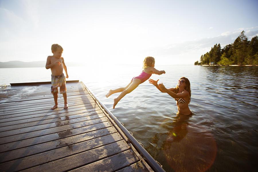 Swimming in a lake. Photograph by Jordan Siemens