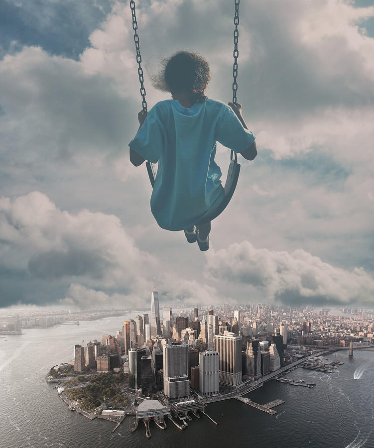 Swing And Skyline Dream Surreal Photograph