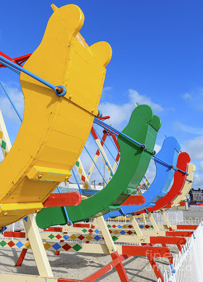 Swing boats by Colin Rayner
