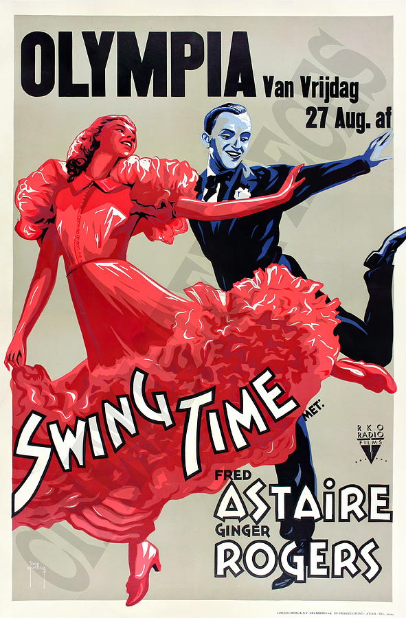 swing Time, With Fred Astaire And Ginger Rogers, 1936 Mixed Media
