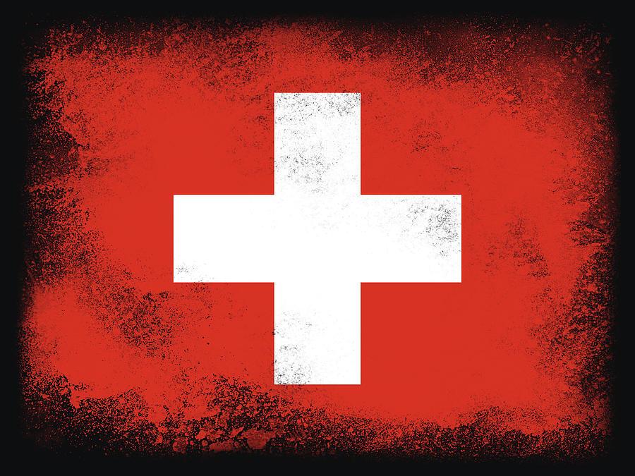 Switzerland Flag Digital Art