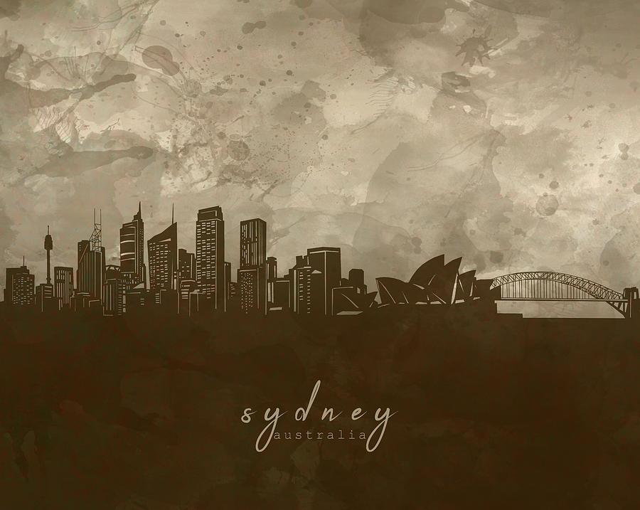 Sydney Skyline Panorama 4 Digital Art
