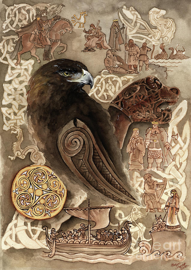 Slavic Sygryda Storrada Vikings Old Norse Design Painting ...