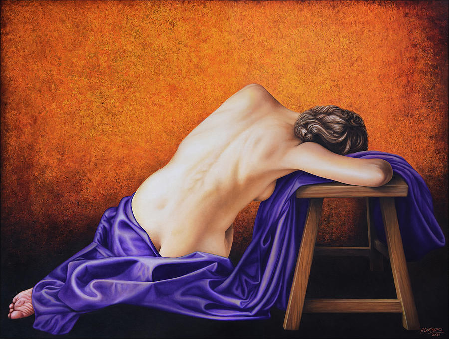 Nude Painting - Sylph in Purple by Horacio Cardozo