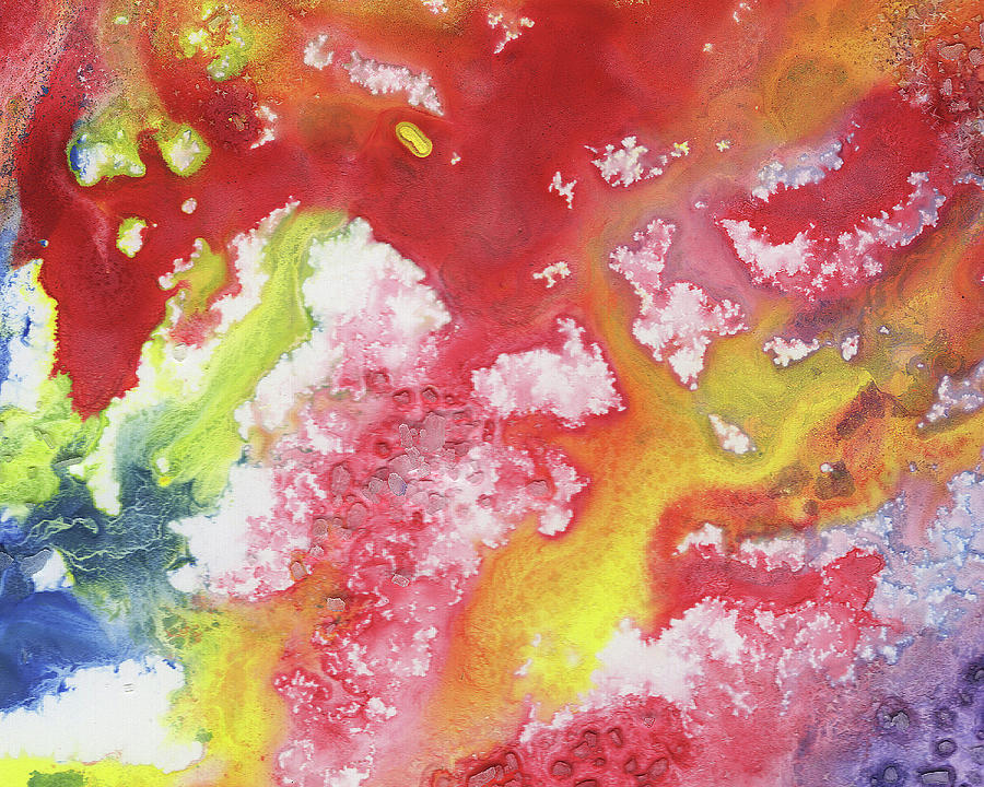 Synergy Of Crystal And Abstract Watercolor Decorative Art Vii Painting