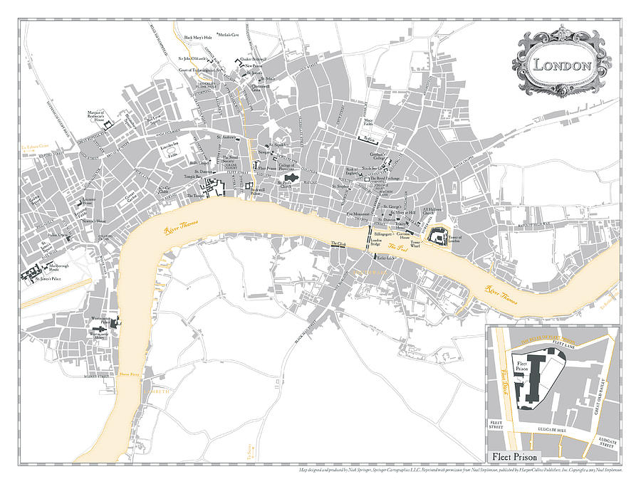 Map Digital Art - System of the World - London Map by Nick Springer