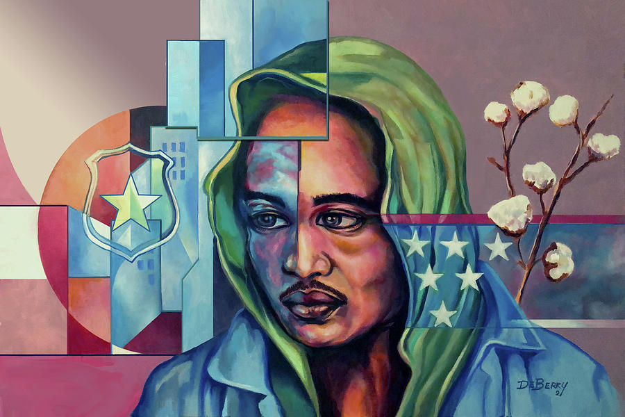 Systemic Society Painting by Lloyd DeBerry