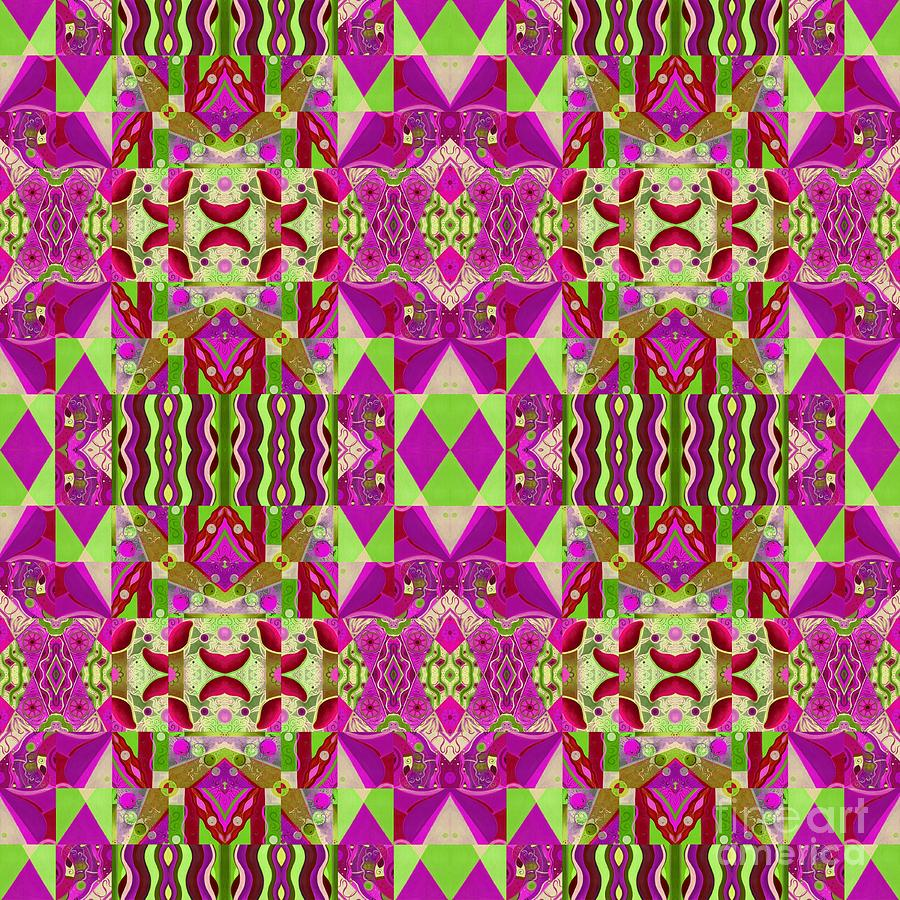 T J O D Mandala Series Puzzle 8 Arrangement 1 Multiplied Variation by Helena Tiainen