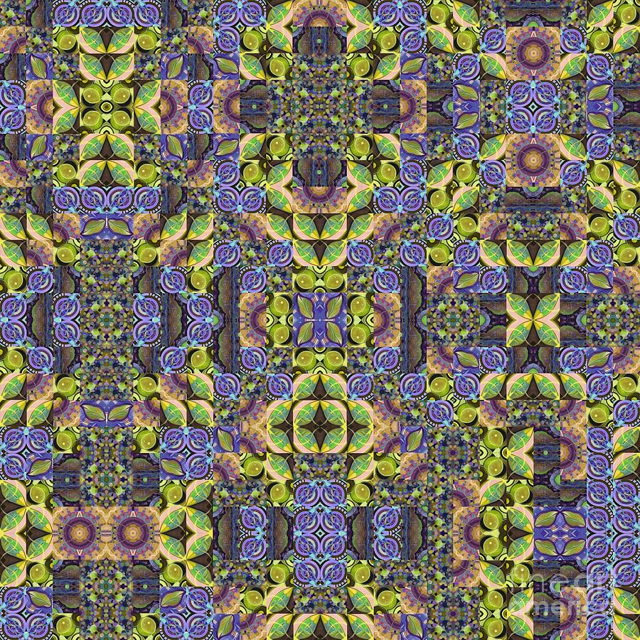 T J O D Mandala Series Puzzle Variations 1 to 9 Variation by Helena Tiainen