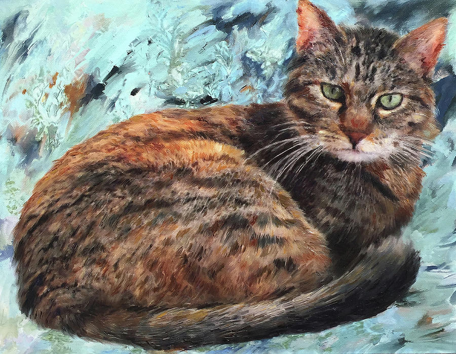 Tabby Cat Painting Painting