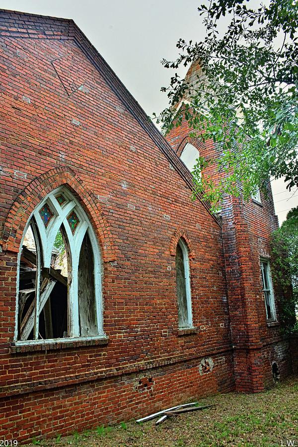Tabernacle Baptist Church Ruins Blackville Sc 3 by Lisa Wooten