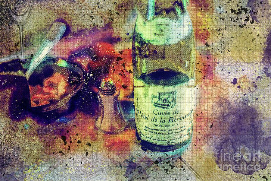 Table Wine Digital Art