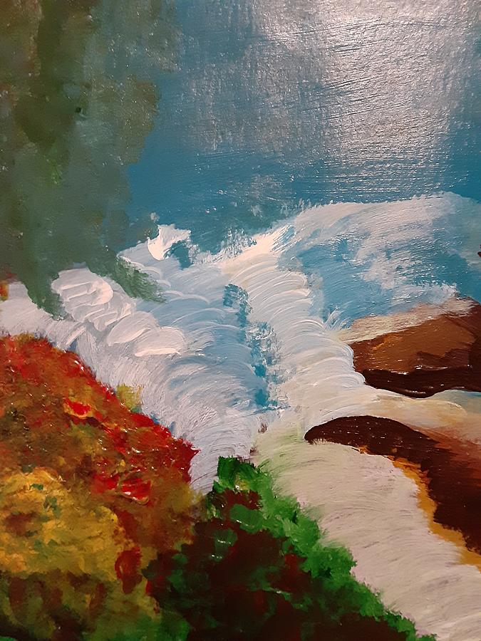 Raging River Painting