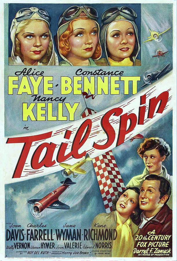 tail Spin, With Alice Faye And Constance Bennett, 1939 Mixed Media