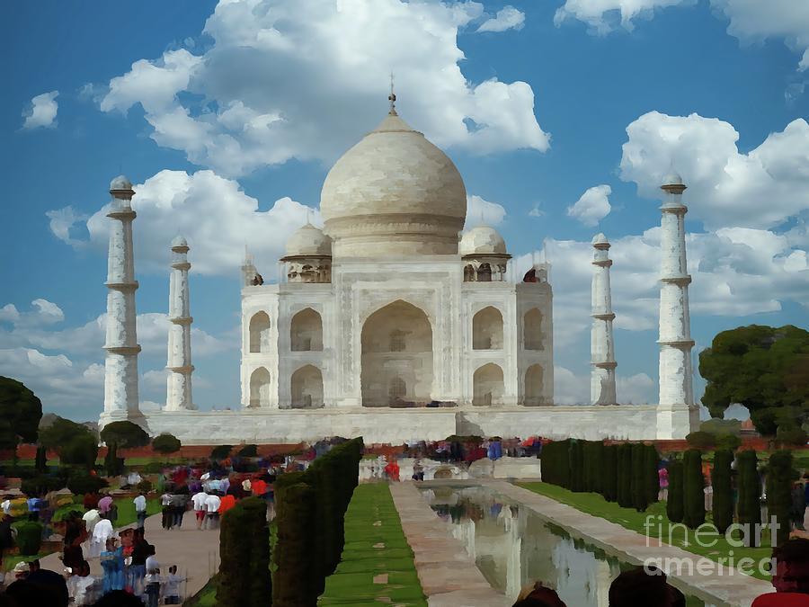 Taj Mahal Front Digital Art
