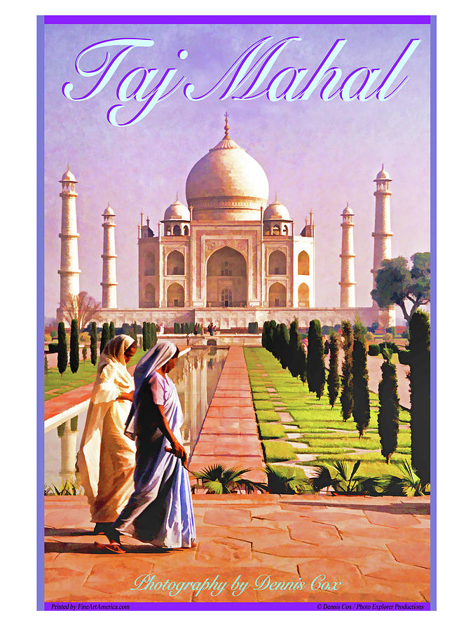 Taj Mahal Travel Poster Photograph