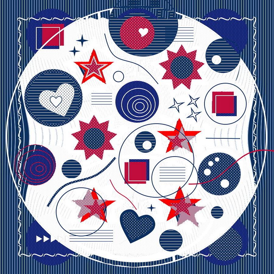 Red Digital Art - Take 2602 by Lady Ls Designs