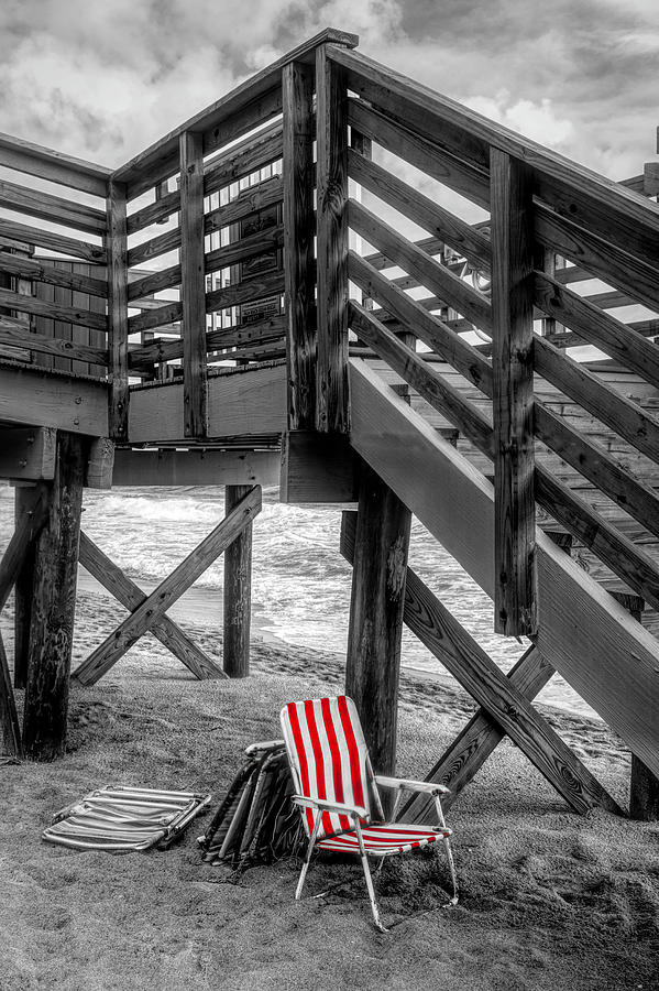 Take a Seat and Relax in Black and White and Red by Debra and Dave Vanderlaan