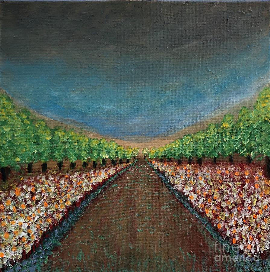 Lemon Grove Painting - Take a Walk with Me by Lienzo Vivo Studio