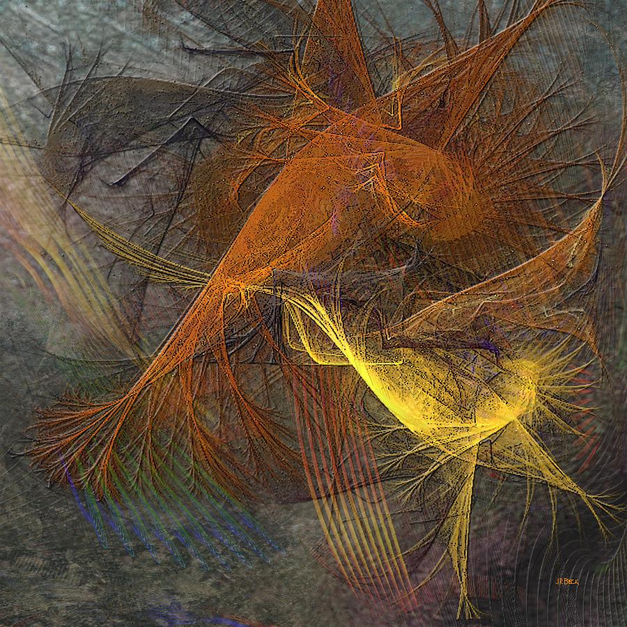 Taking Flight Digital Art - Taking Flight - Square Version by John Robert Beck