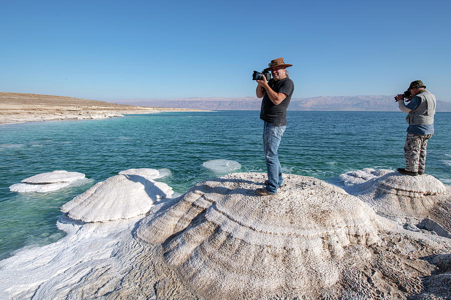 Taking Photographs at the Dead Sea by Dubi Roman