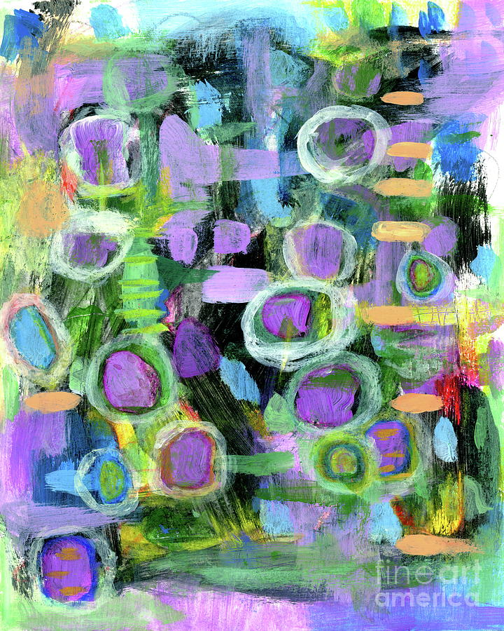 Abstract Expressionism Painting - Taking Positive Steps 1 Abstract Expressionist painting by Itaya Lightbourne