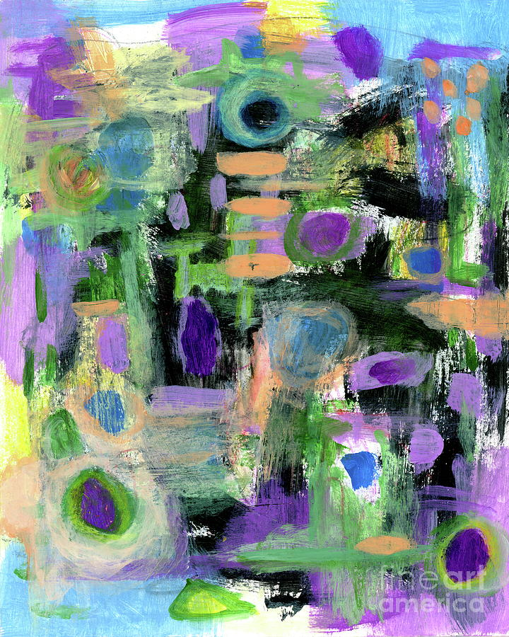Abstract Floral Painting - Taking Positive Steps 2 Abstract Expressionist painting by Itaya Lightbourne