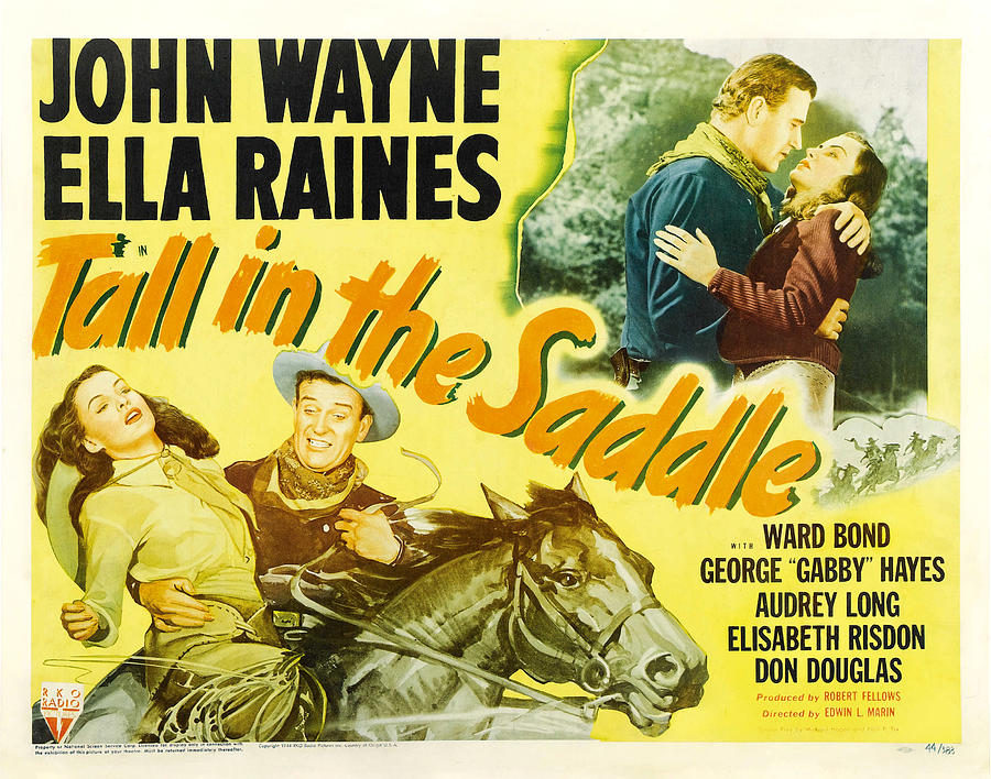 tall In The Saddle, With John Wayne And Ella Raines, 1944 Mixed Media
