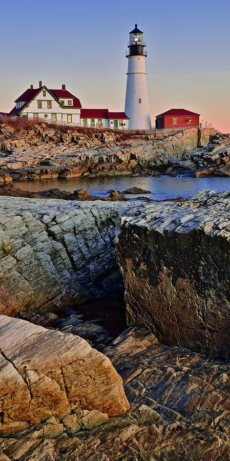 Tall Panoramic of Portland Head by Frozen in Time Fine Art Photography