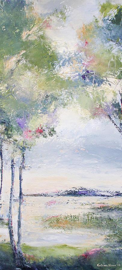 River Painting - Tall River II by Katrina Nixon