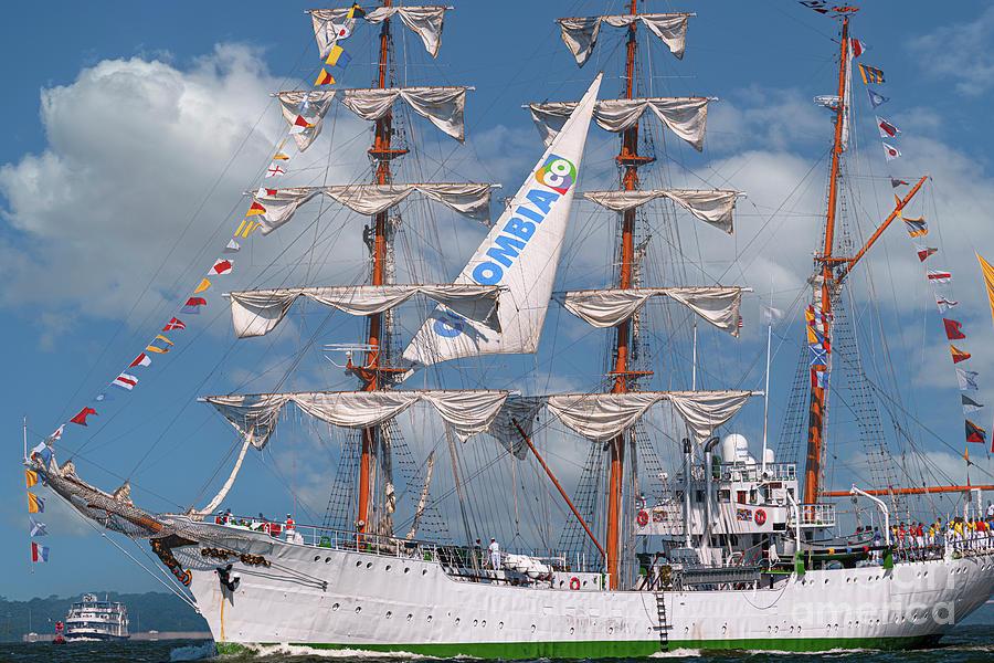 Tall Ship Leaving Charleston South Carolina Photograph