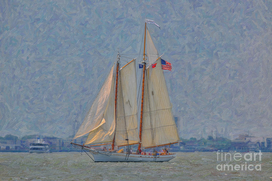 Tall Ship - Spirit Of South Carolina - Lowcountry Sailing Photograph
